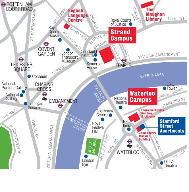 Kings College London Map.Campus Maps King S College London European And International