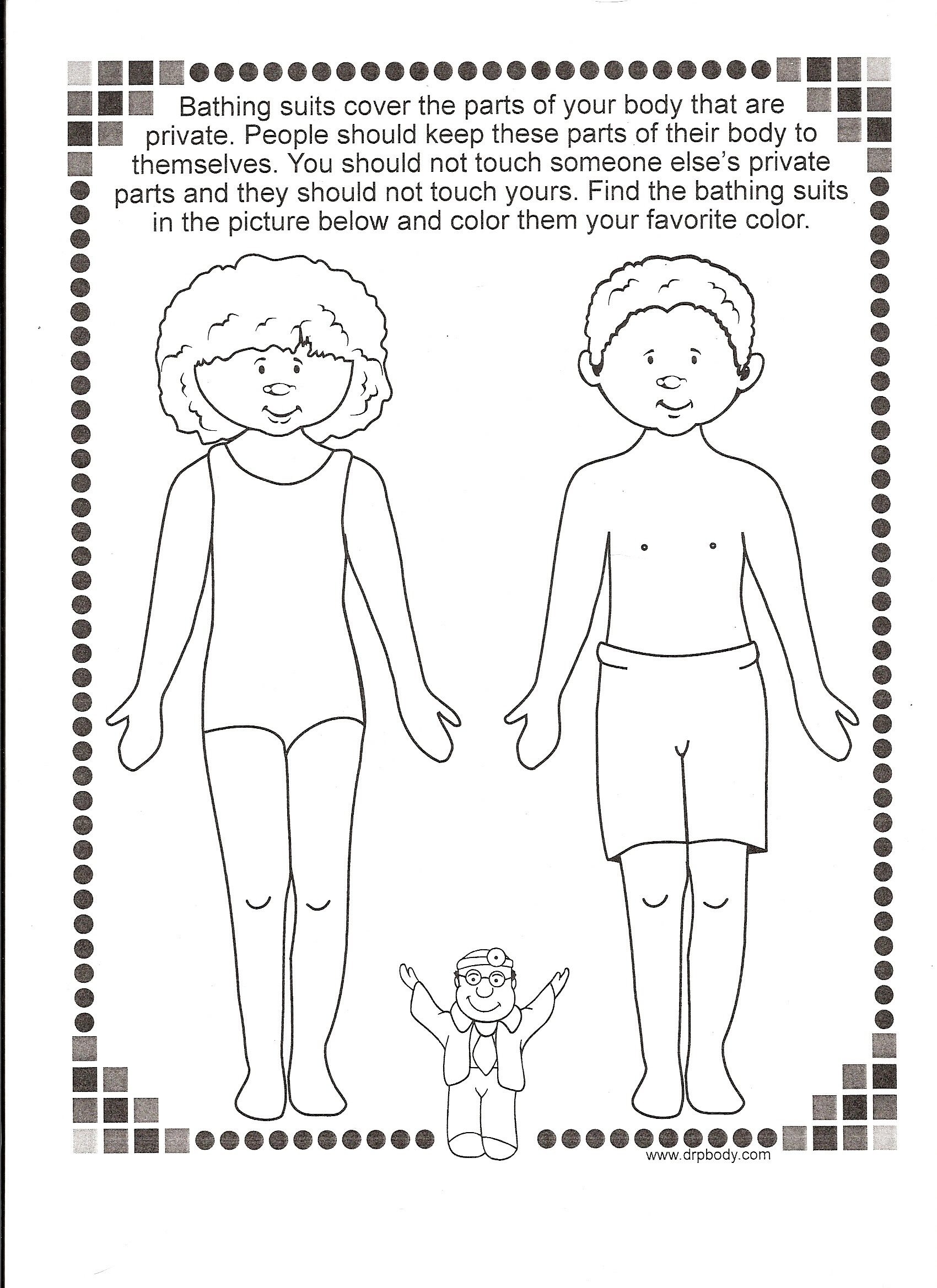 coloring pages of body parts - photo#23