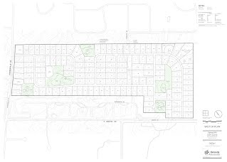 Proposed development of 1-acre homesites