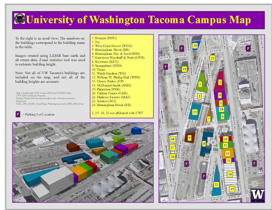 Lab 7 Uw Tacoma Campus Map Kelsey Powers