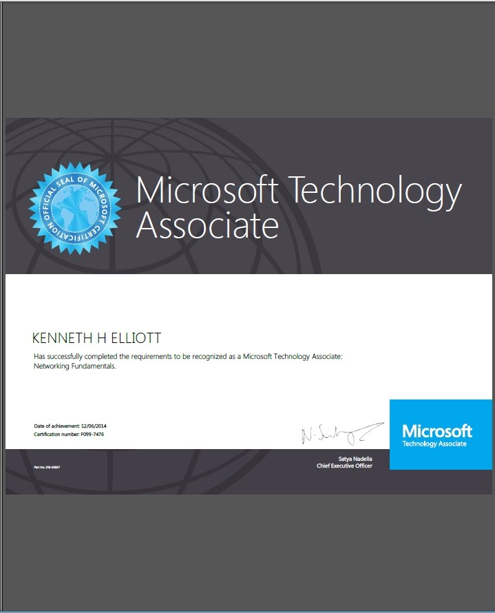 Microsoft Mta Networking Certification Ken Elliott Network Projects