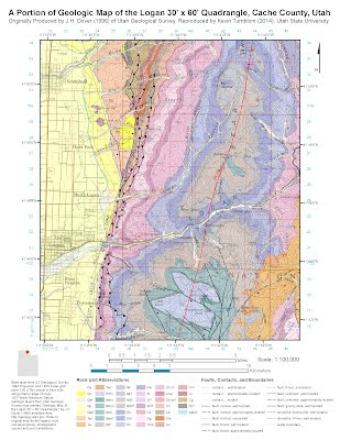 A Portion of Geologic Map of the Logan 30' x 60' Quadrangle, Cache County, Utah