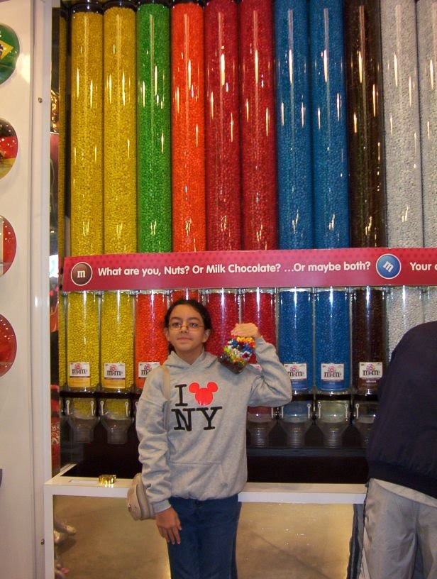 Ghazal in M&M store-Times square