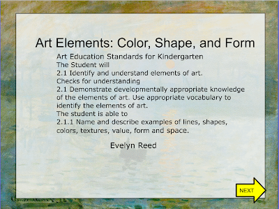 Flipchart On Art Elements Color Shape And Form Kick Start With