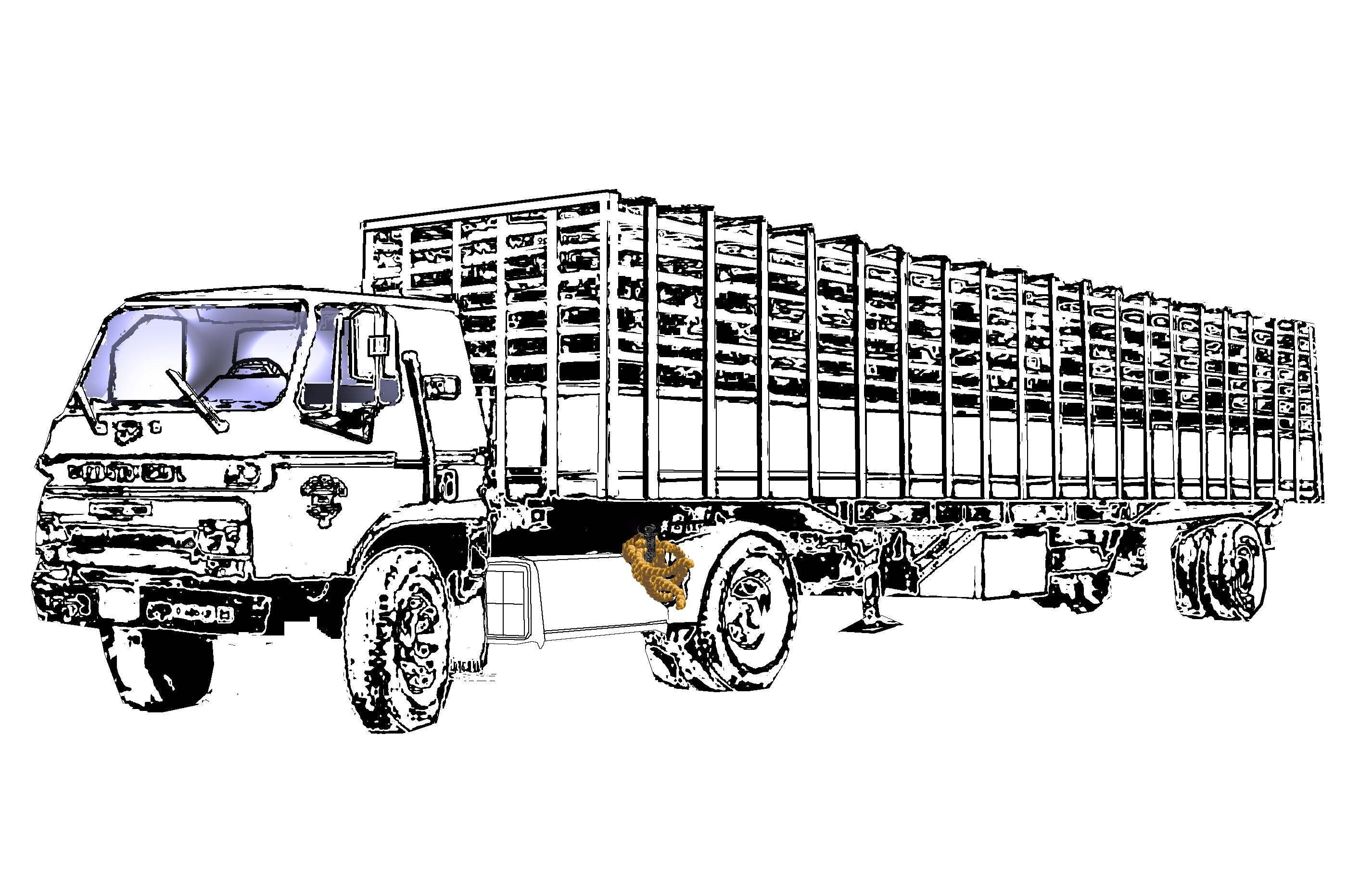 cattle truck coloring pages - photo#1