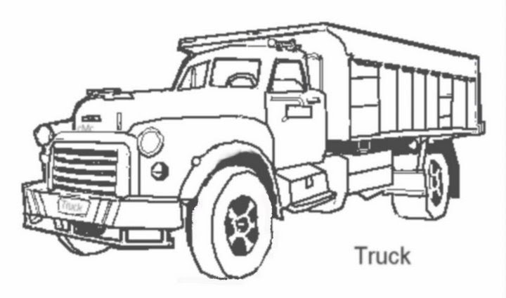 cattle trailer coloring pages - photo#13