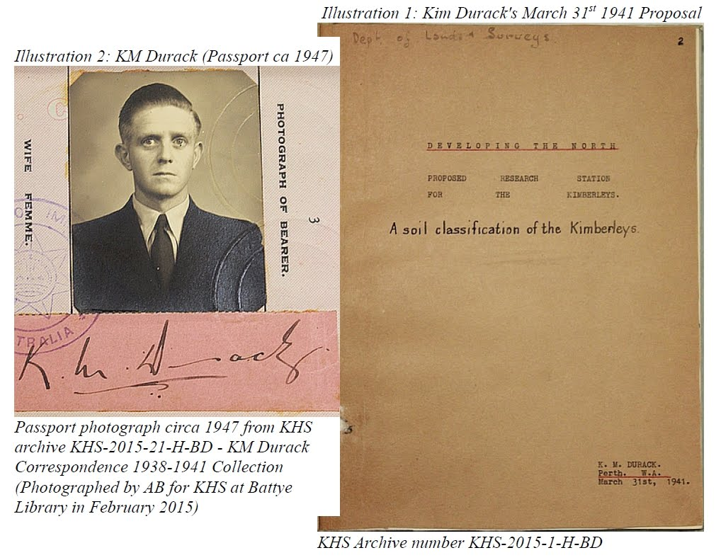 Passport Photo of Kim Durack (KMD) circa 1947 - Cover of KMD's 1941 Paper
