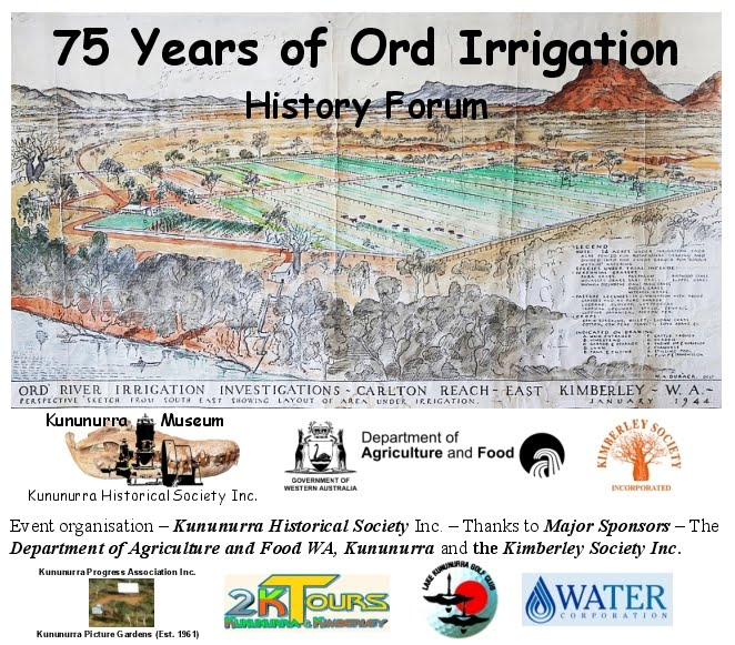 Carlton Reach Research Station 1944 Minds eye view by WA Durack KHS 75 Years of Ord Irrigation - History Forum SPONSORS