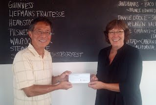 Our president Dr. Hay Boon Mak presented to the chairperson of the Food Sharing Project the proceeds of this year's Spring Banquet.  Together we raised a total of $22,500.