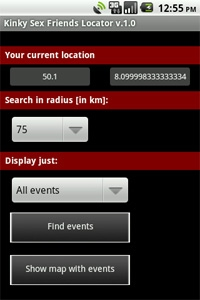 Find events near you or display it on map