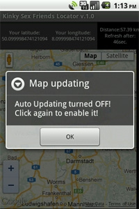 Turn Map auto refreshing ON/OFF
