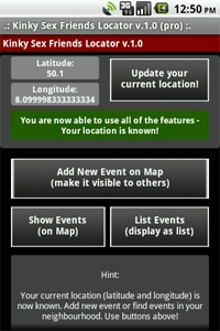 Main screen - Location is known - Buttons enabled