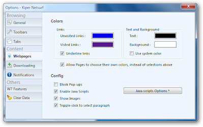 Options window imporved for better view