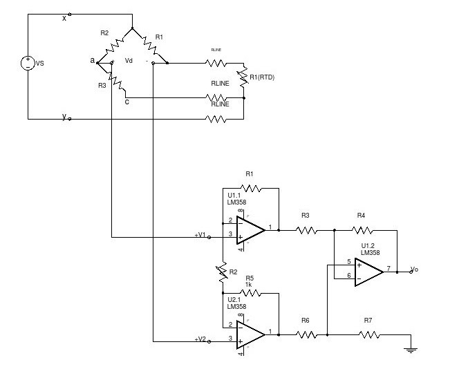 Lab IV :Opamp Signal-Conditioning Circuit for 3-Wire RTD Bridge - MR ...