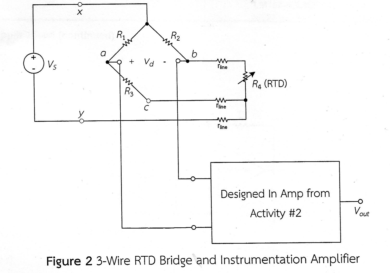 LabIV: Op amp Signal-Conditioning Circuit for 3-Wire RTD Bridge ...