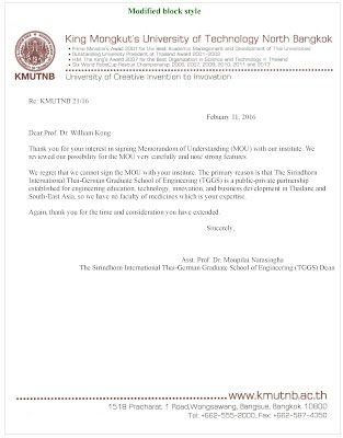 Format Of Acceptance Letter And Refusal Letter  Rd Week Business