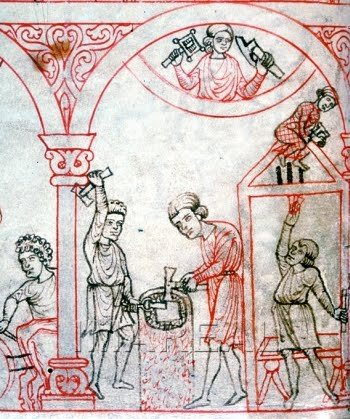 Craftsmen at work c. 1200-1220