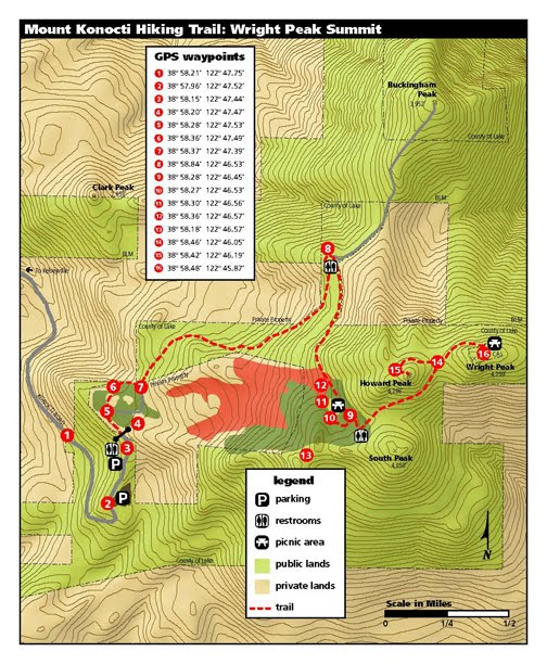 Map for Wright Peak Summit Trail