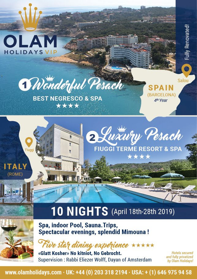 PASSOVER 2019 PASSOVER HOTELS KOSHER VACATIONS PESACH2019
