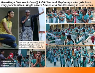 Avvai home for Orphan & underprivileged girls. Kravmaga workshop