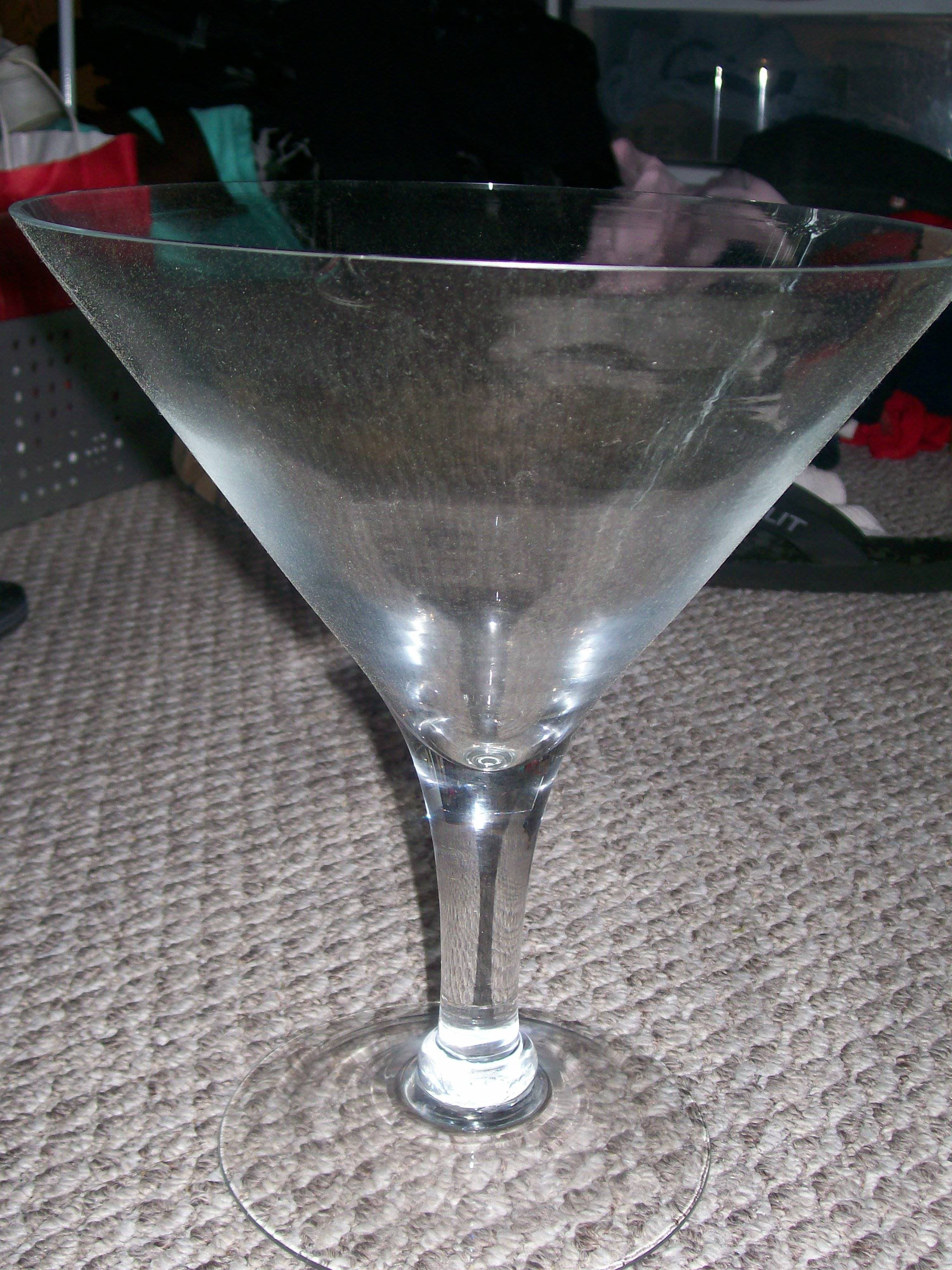 1 Giant Martini Gles Used For Candy Buffet 8 00