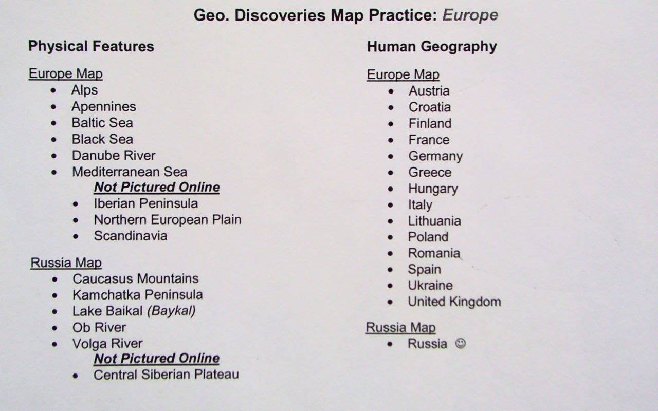 Picture of: Q3 Map Challenge Europe And Russia With Challenge 5 Field Photo Kylie E Trepkowski