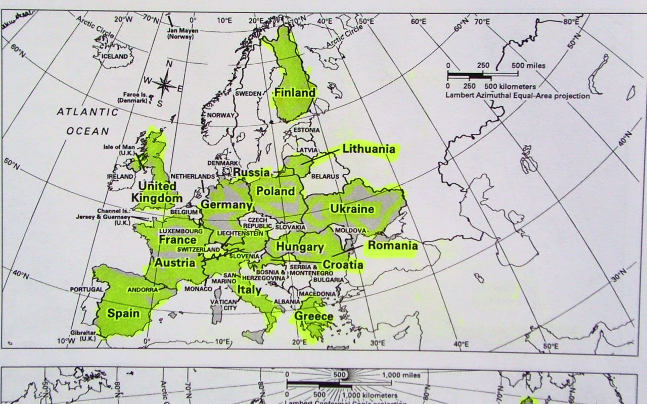geography map of europe Q3  Map Challenge: Europe and Russia With Challenge 5 Field Photo