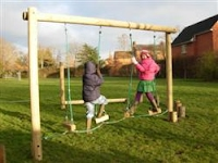 Play equipment on the green