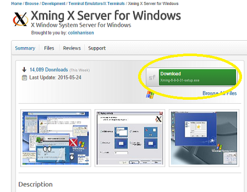 Step 1: Xming --- Download and Installation - Using vcgs on
