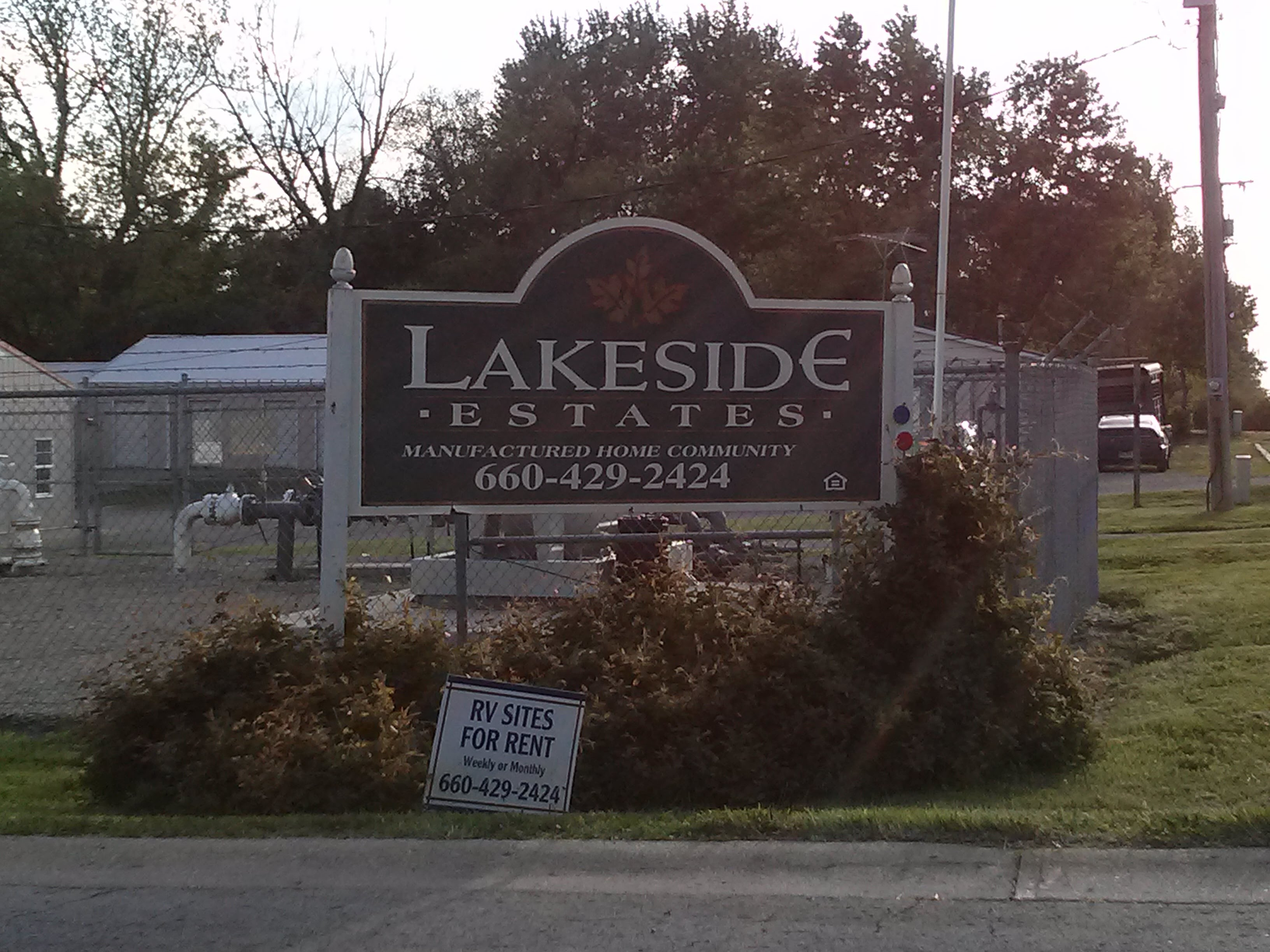 Welcome To Lakeside Estates Inc RV Mobile Home Park