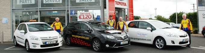 Grange Motors sponsored vehicles for Mullingar 2-Day 2012