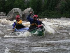 Lynette and Dara in the rapid