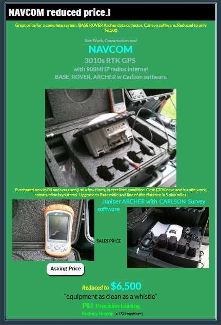 Complete GPS RTK system for $5,500 - ePalmetto-Global Land