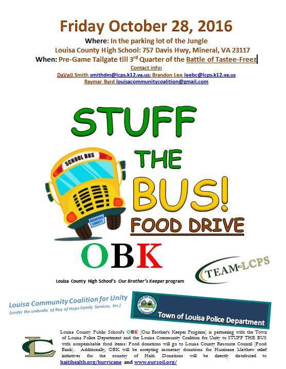 """Stuff the Bus"" Food Drive"