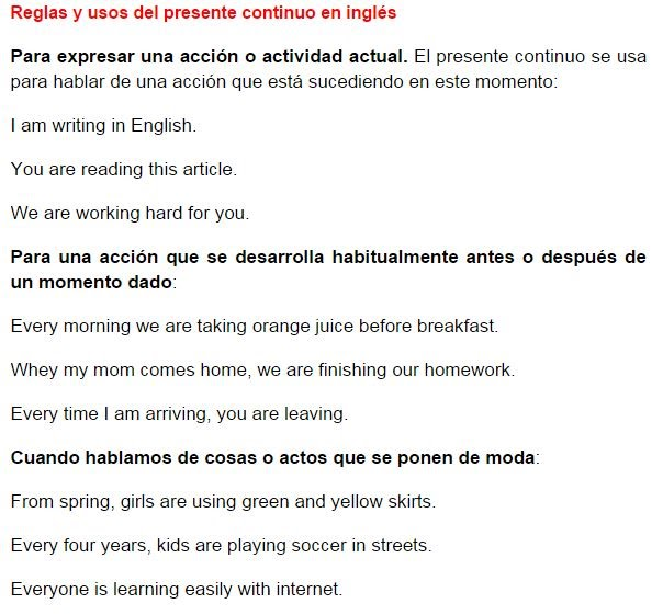 Gramática Básica Del Idioma Inglés Learning English