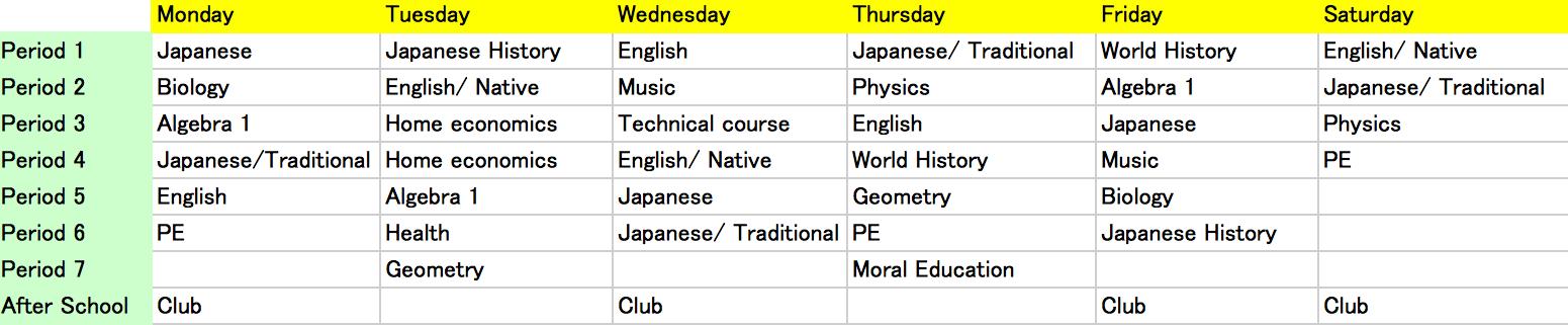 Japanese School Year Calendar : Class structure japanese teens