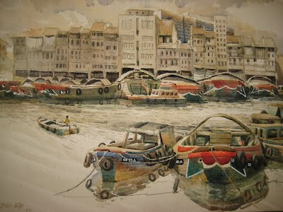 Singapore's History | A collection of original Water-Colour
