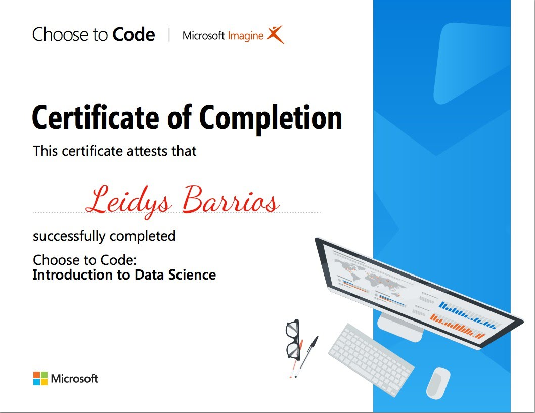 Data Science Certificate - Leidy'sPhysics