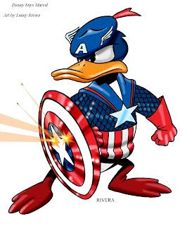 donald duck disney captain america marvel lenny rivera