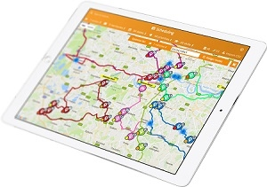 Delivery Mapping Mobile App is Easy to Use Even On the Go! - route on