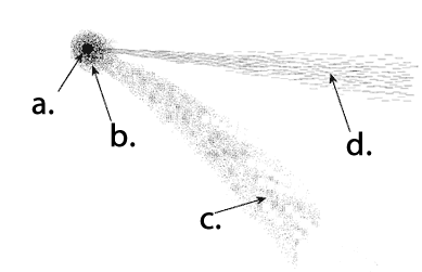 comet structure and orbits comets  diagram for comet #12