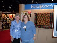 Marianne and I at the Love of Quilting booth