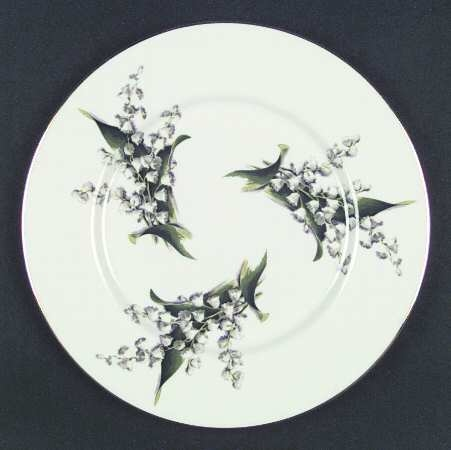"""Lily of the Valley"" 10 & 1/2"" Dinner Plate, gold-numbered"