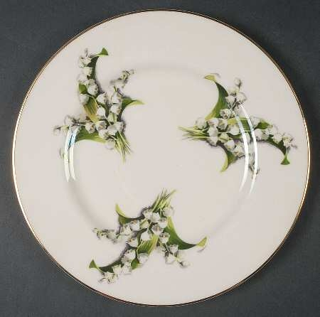 """Lily of the Valley"" 8 & 1/2"" Salad Plates"