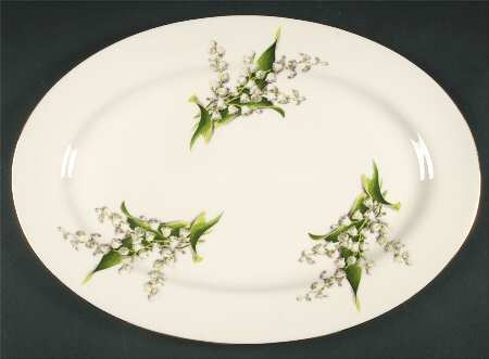 'Lily of the Valley'_15.5-inch Oval Serving Platter