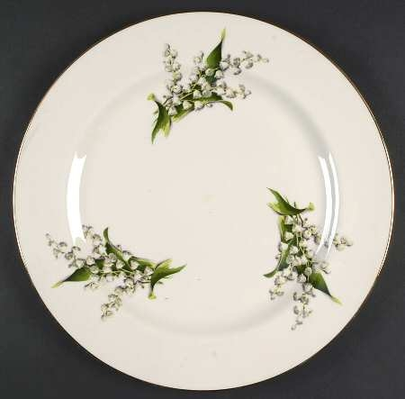 'Lily of the Valley' 13.75-inch Chop Plate Round Serving Platter