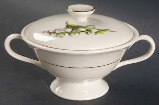 'Lily of the Valley' 2.5-inch Sugar Bowl with Lid