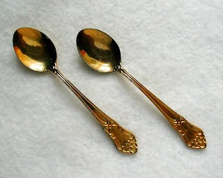Vintage 24K Gold-plated Espresso Spoons - made in Sweden