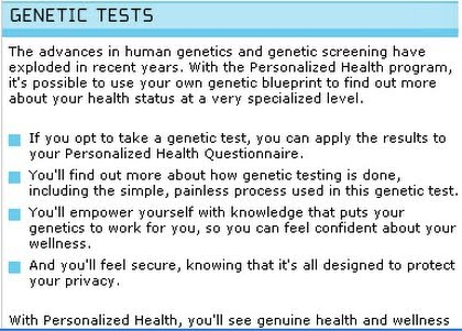 simple health questionnaire