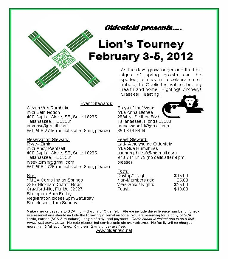 Flyer for Lion's Tourney
